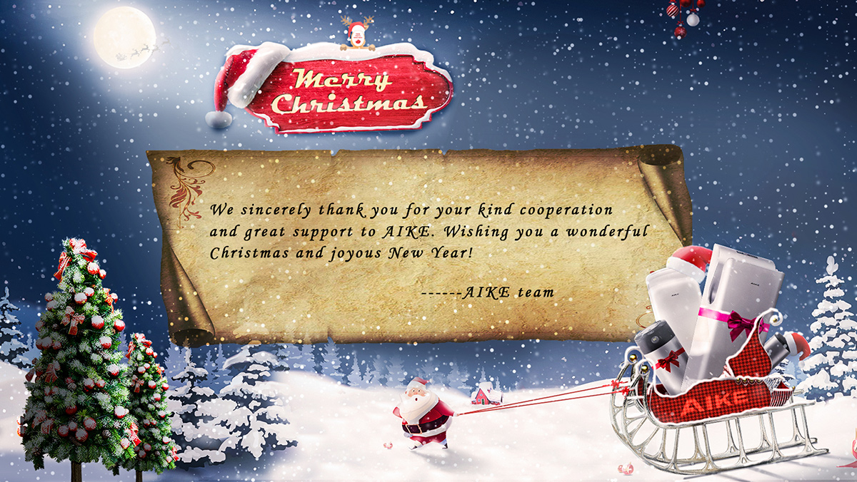 AIKE Wish You a Merry Christmas & Happy New Year - AIKE kitchen air tap hand dryer